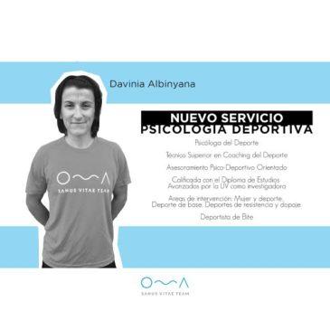 Davinia Albinyana, nueva incorporación para el Cuerpo Técnico de Sanus Vitae