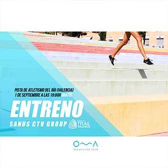 Estructura entrenamientos Trail en Valencia Sanus CTV Group