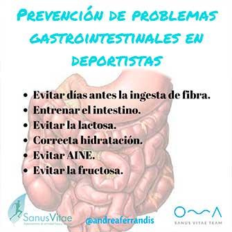 Problemas gastrointestinales en deportistas de resistencia