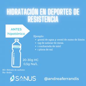 Hidratación pre-entrenamiento
